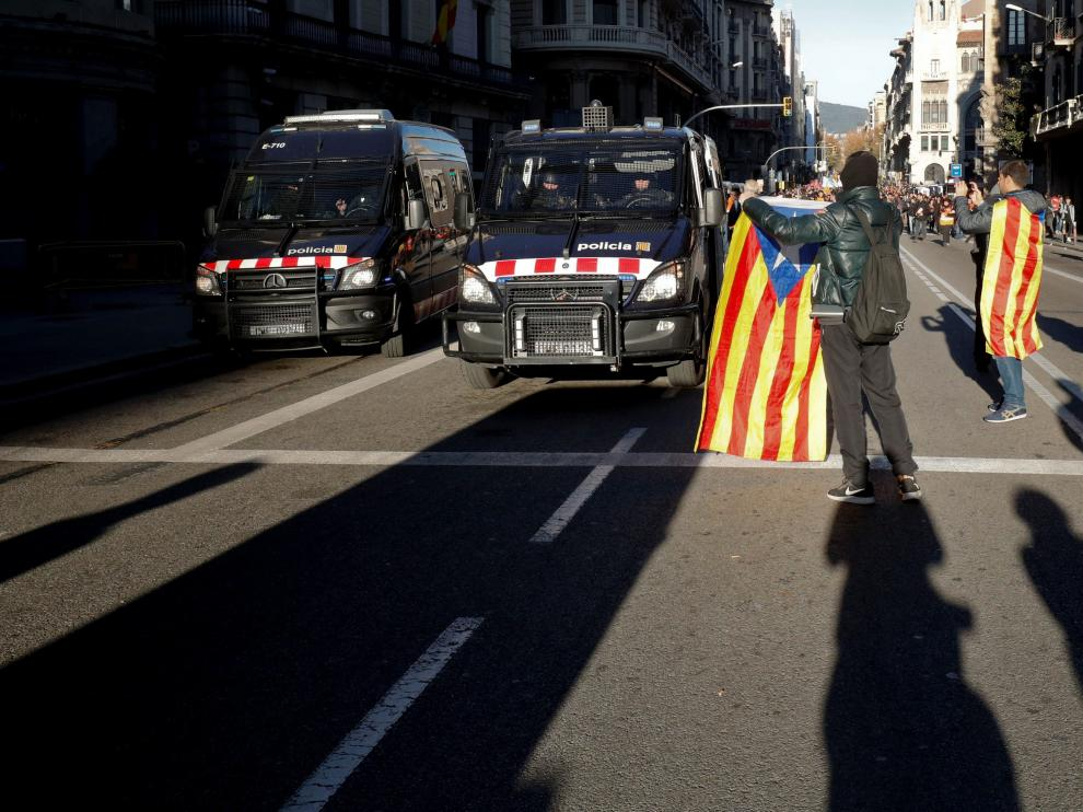 Manifestaciones en Barcelona con motivo del 21-D-