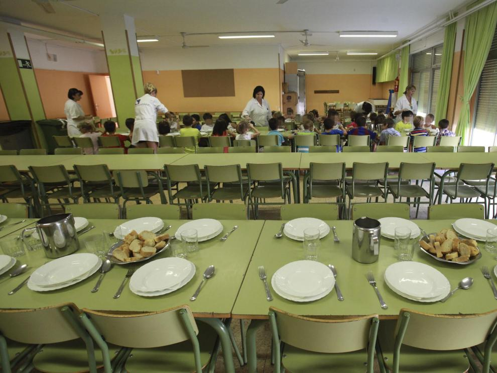 Podemos Aragón ha incidido en la importancia que tienen los comedores escolares para la alimentación y para la salud de los alumnos.