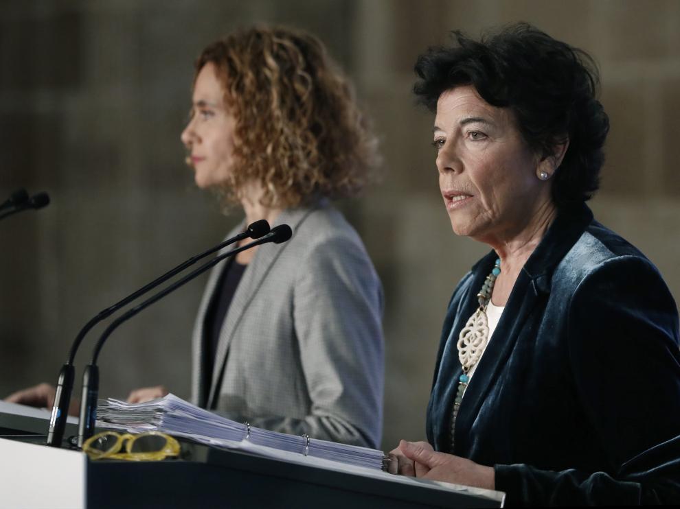La ministra portavoz del Ejecutivo, Isabel Celaá.