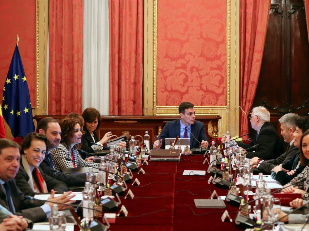 El Consejo de Ministros ha comenzado a las 10.15.