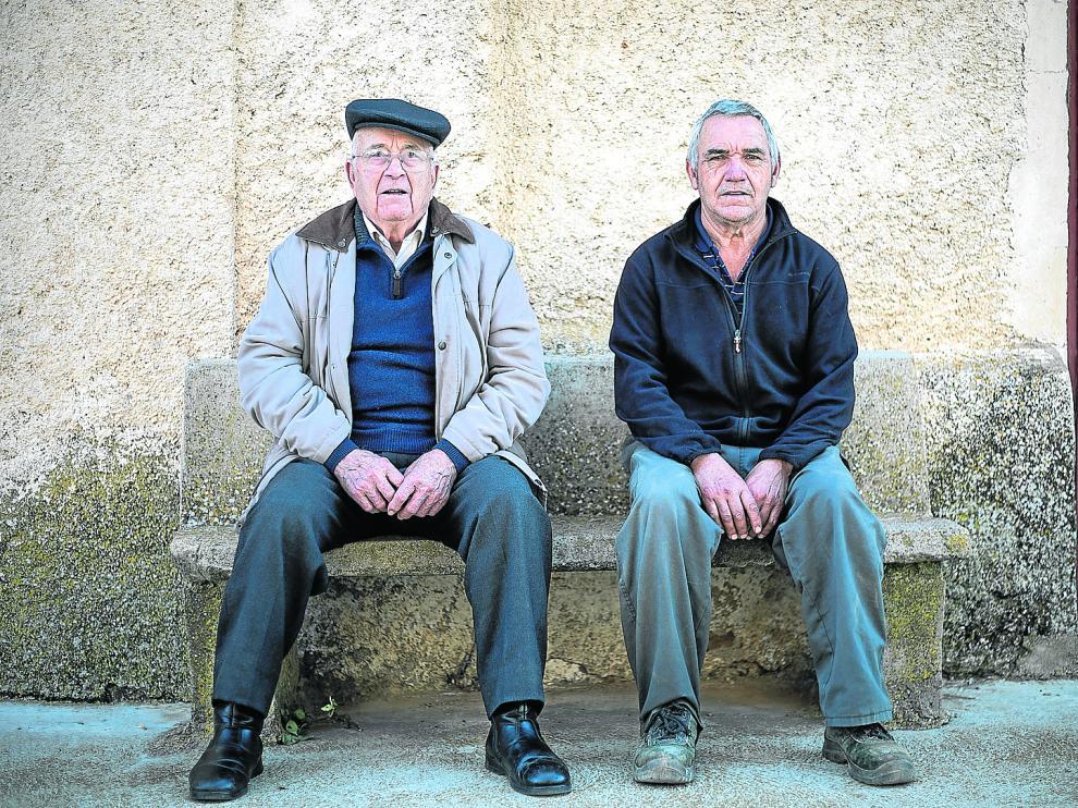 Fabián Lavilla y Benjamín Lavilla, pasado y presente de la alcaldía en Valdehorna.