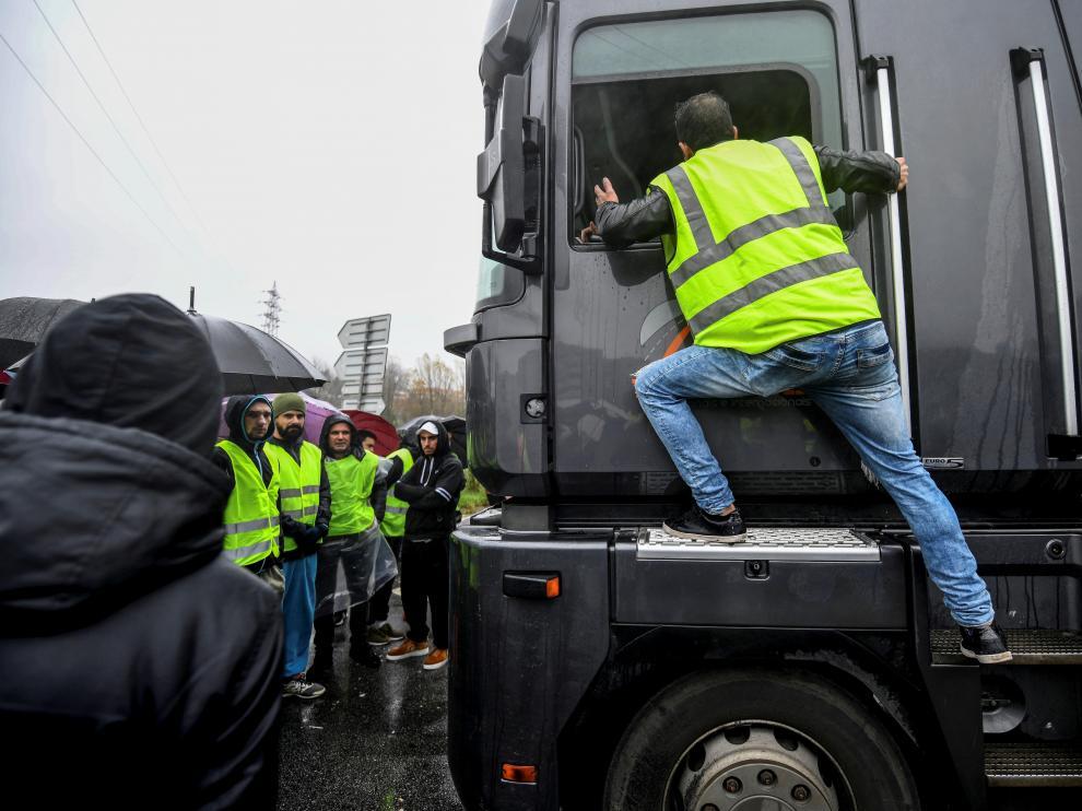Una protesta de chalecos amarillos en Francia.