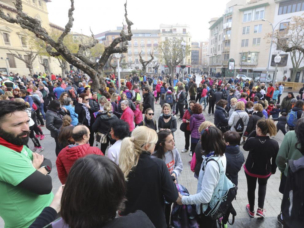 Marcha en Huesca en homenaje a Laura Luelmo