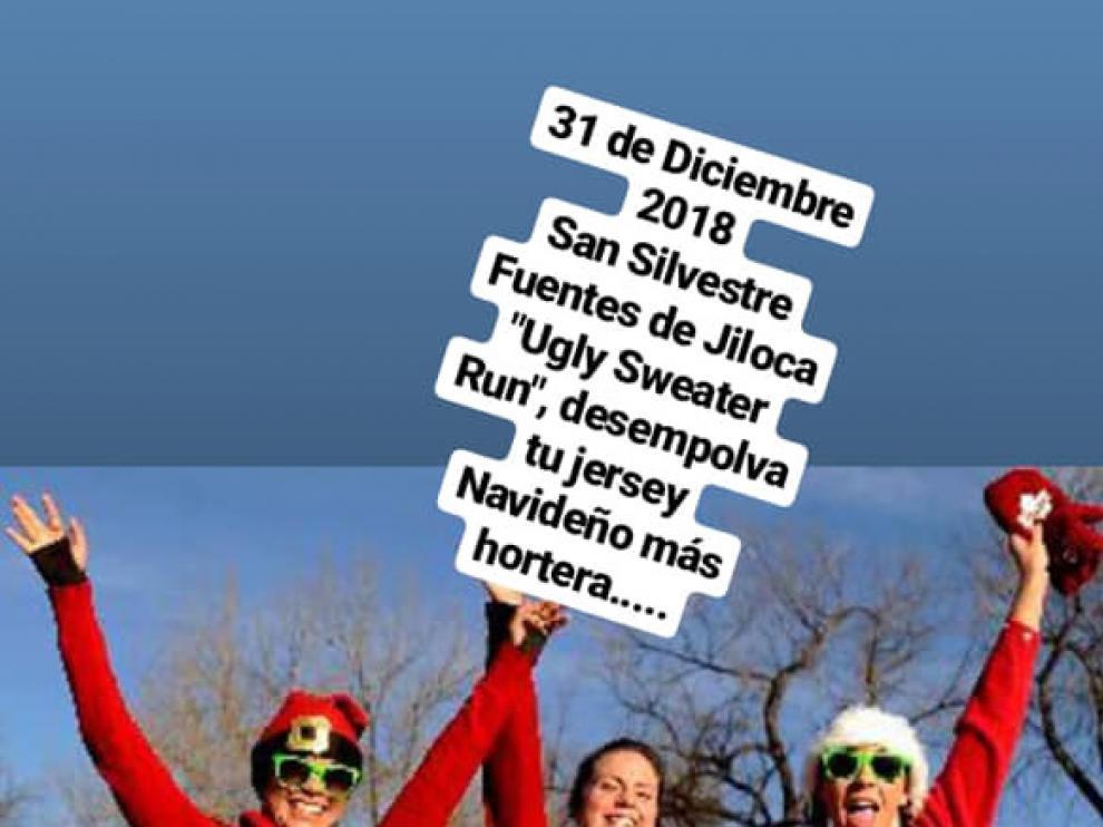Los vecinos de Fuentes de Jiloca celebrarán la 'Ugly Sweater Run' el próximo 31 de diciembre.