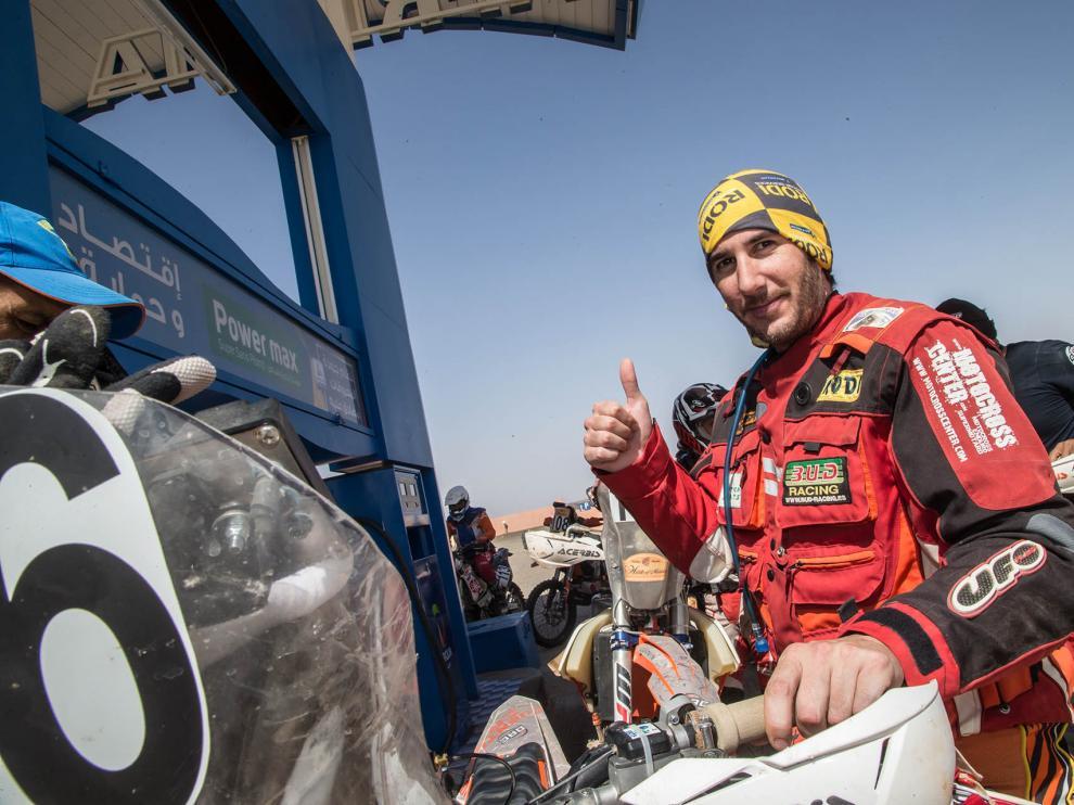 Víctor Rivera, en el Rally Marruecos celebrado en octubre
