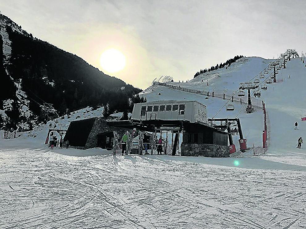 Ayer fue una día tranquilo en la estación de Cerler, donde hay 44 kilómetros esquiables.