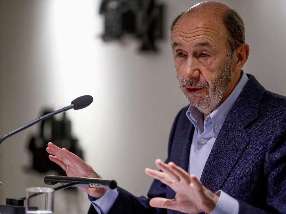 El exministro y ex secretario general del PSOE,Alfredo Pérez Rubalcaba.