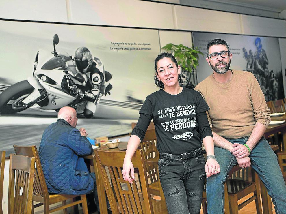 Noemí Gracia y Diego Abós, en el comedor de + Gas Gastro.