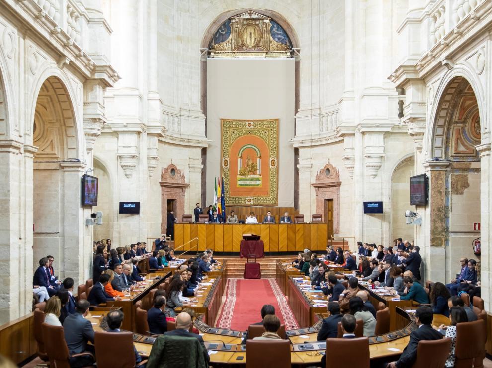Vista del pleno constitutivo del nuevo Parlamento andaluz.