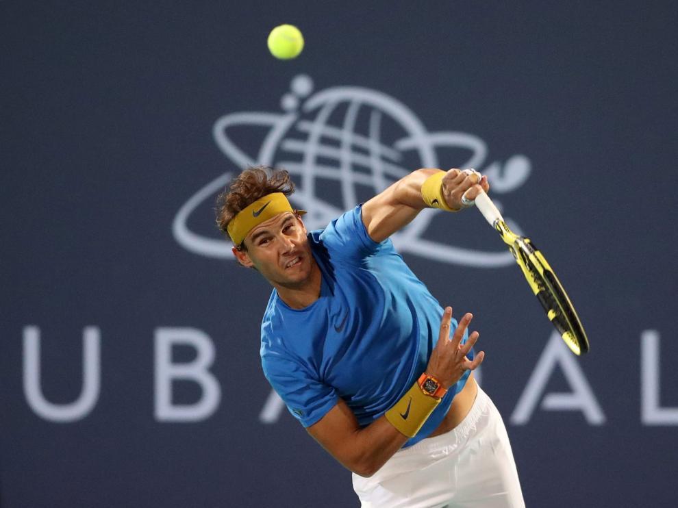 El tenista Rafa Nadal, en la exhibición Mubadala World Tennis Championship.