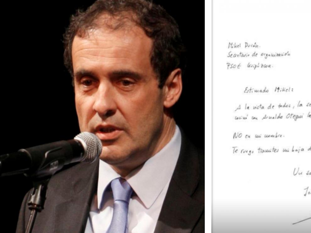 José Mari Múgica escribió una carta al secretario de Organización de los socialistas en Gipuzkoa, Mikel Durán