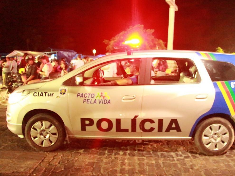 Una patrulla de policía en Brasil