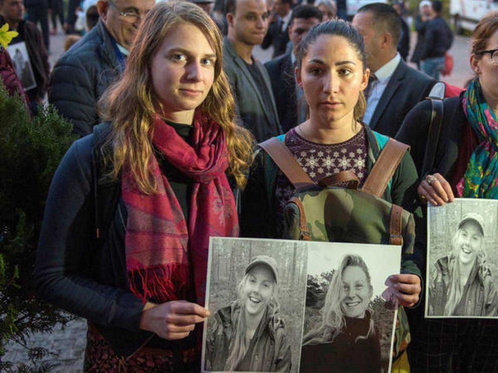 Homenaje a las dos turistas asesinadas en Marruecos