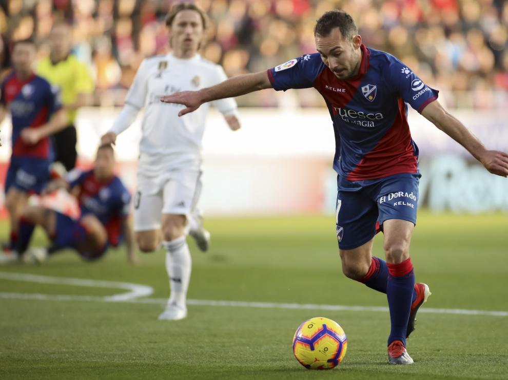 David Ferreiro, durante el partido con el Real Madrid.