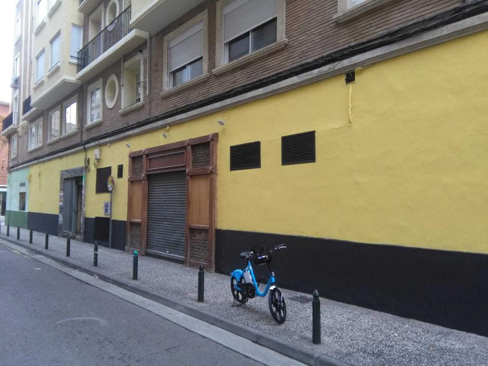 Una de las fachadas en las que se intervino para eliminar pintadas.