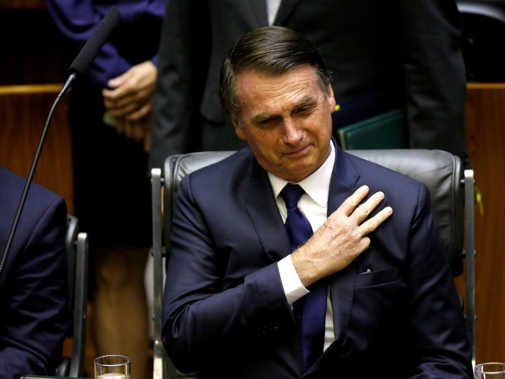 Bolsonaro en la toma de posesión de su cargo.