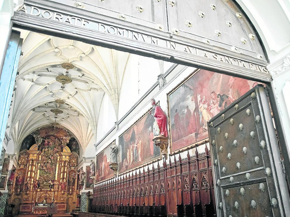 Las pinturas de Goya decoran las paredes de la iglesia de la Cartuja de Aula Dei, en Zaragoza
