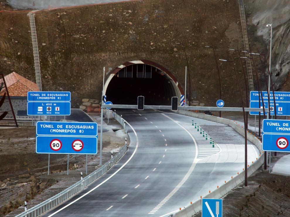 Imagen del macrotúnel de Escusaguas, de 2,8 kilómetros, ya terminado