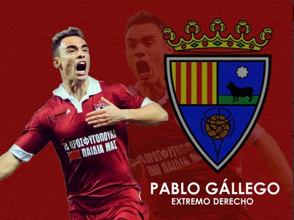 Pablo Gállego ficha por el Teruel.