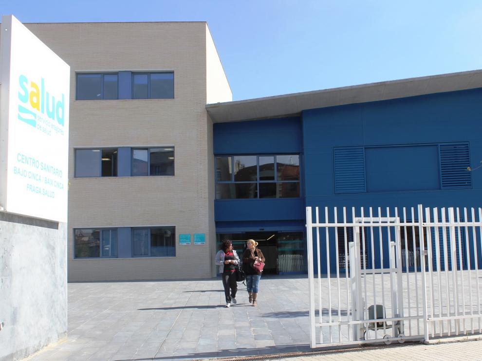 Centro de salud de Fraga, cuya población es atendida en el hospital de Lérida