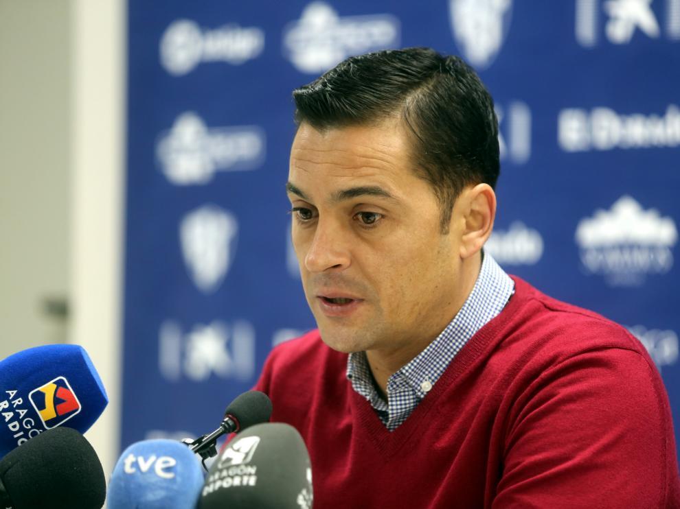 Francisco Rodríguez, durante la comparecencia ante los medios de este viernes.