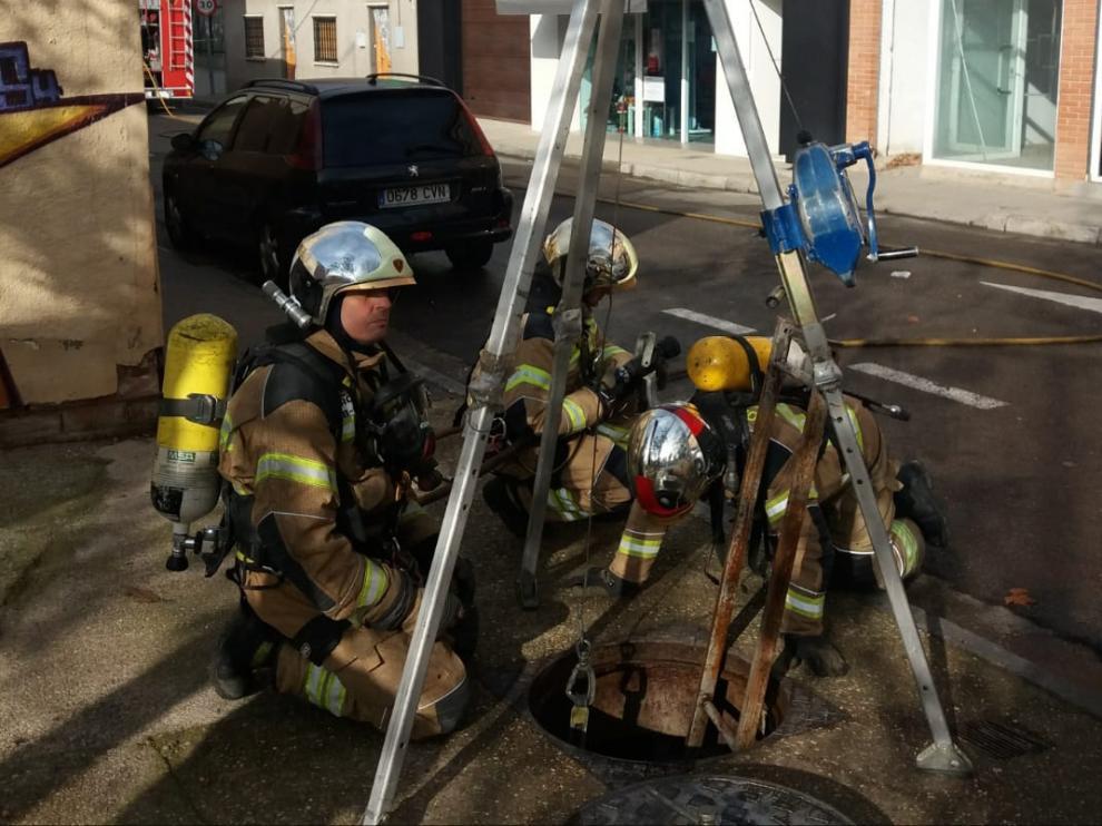 Escape de gas ocurrido este viernes por la mañana en Utebo.