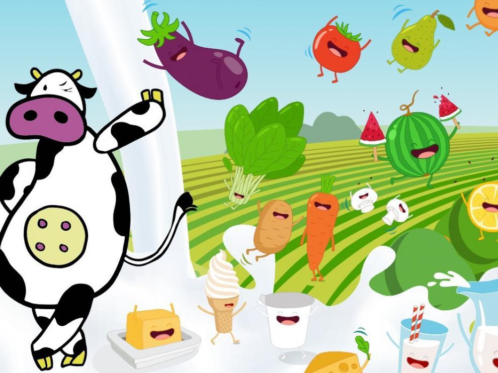 Aragón promueve el consumo de la fruta y la leche en las aulas