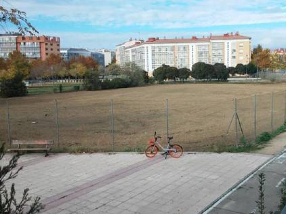 Solar de Parque Goya, es de una de las parcelas que limpiaron a mitad de noviembre.