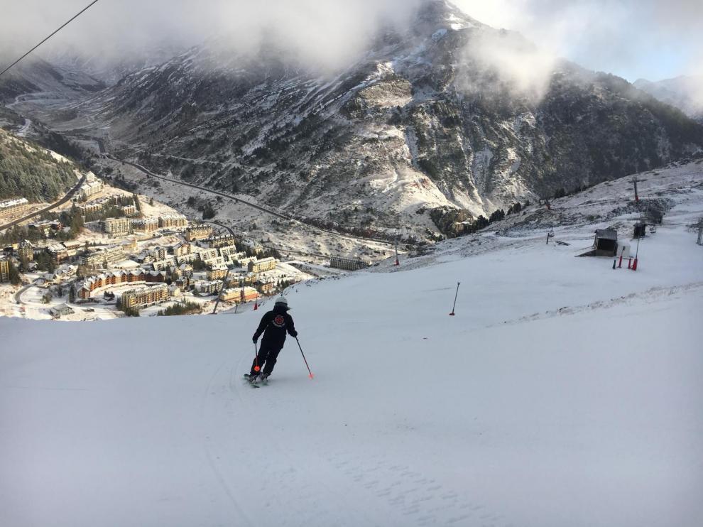 Imagen de la situación que ofrece la estación de esquí de Candanchú