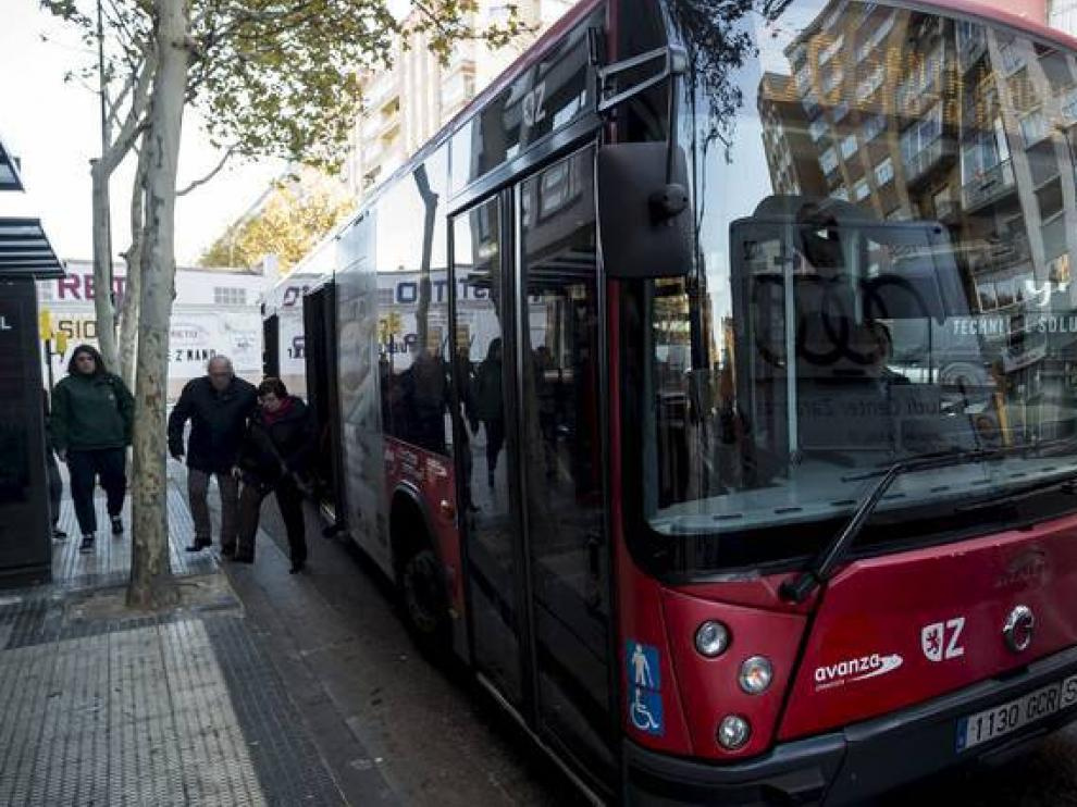 Un autobús de la línea 60.