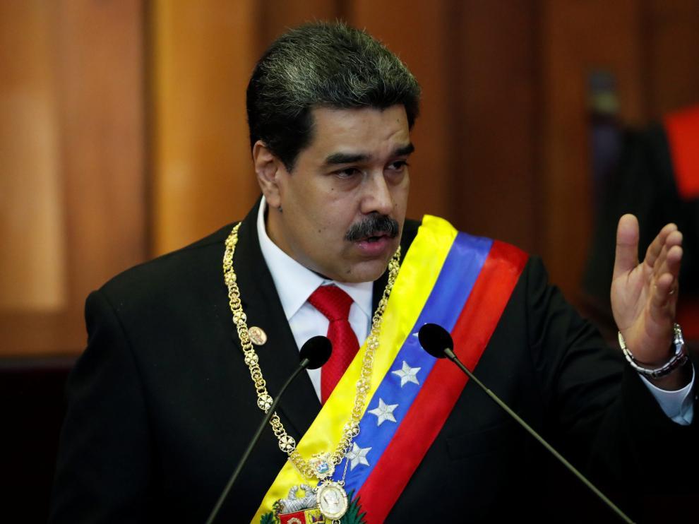 Nicolás Maduro en imagen de archivo, durante la jura del nuevo mandato.