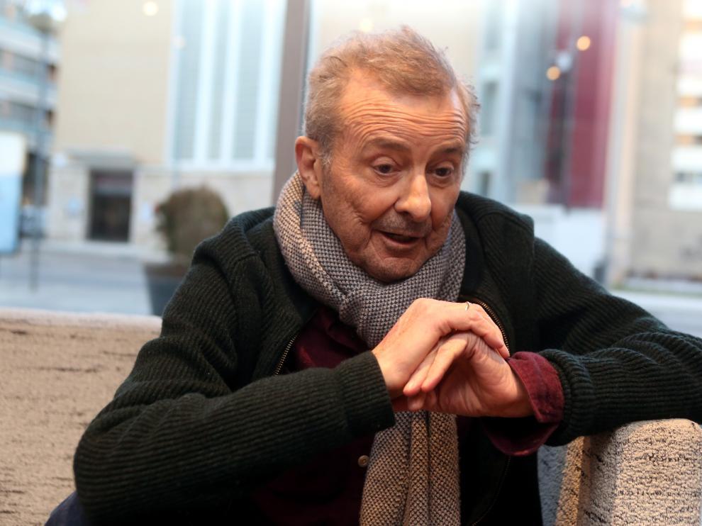 El actor, Juan Diego, se ha trasladado a Huesca para ultimar los ensayos
