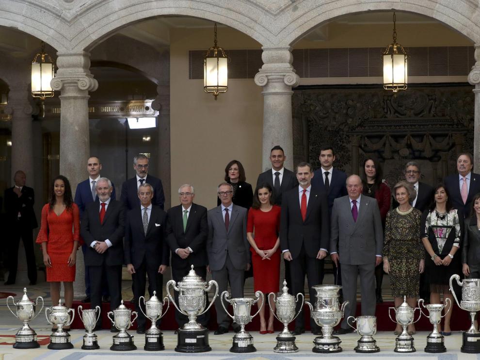 Foto de familia de los Premios Nacionales del Deporte 2017.