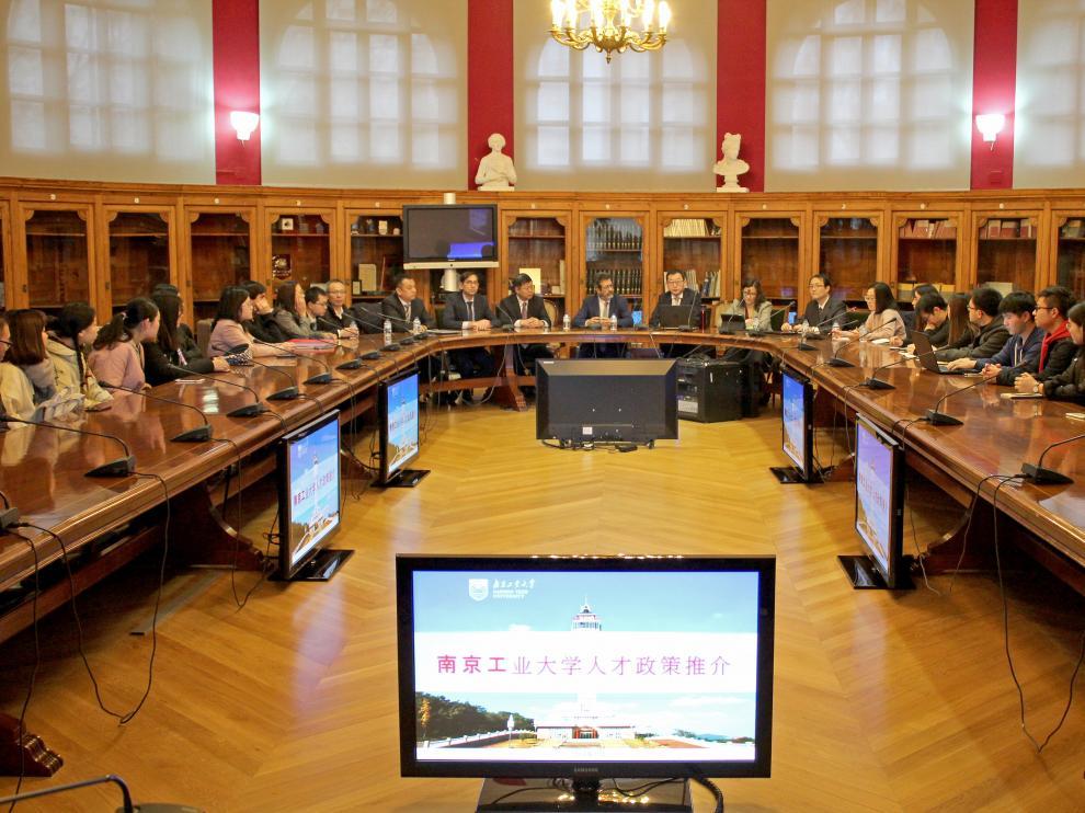 Una delegación de la Universidad Tecnológica de Nanjing (China) ha visitado la Universidad de Zaragoza.