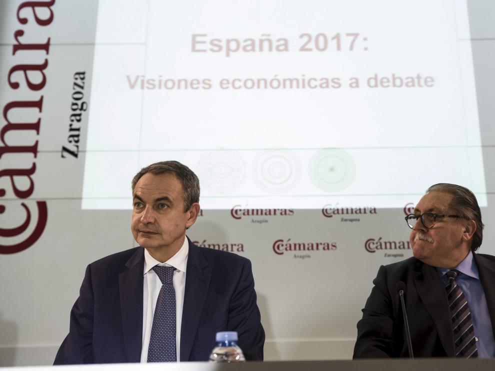 José Luis Rodríguez Zapatero, durante una de sus últimas visitas a Zaragoza.