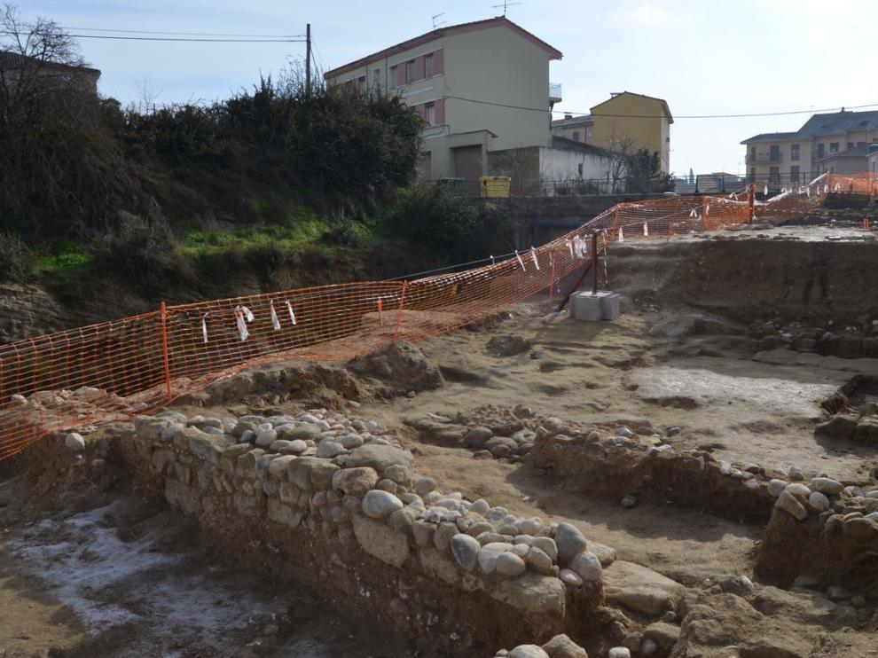 La zona de las obras donde han aparecido los restos arqueológicos.