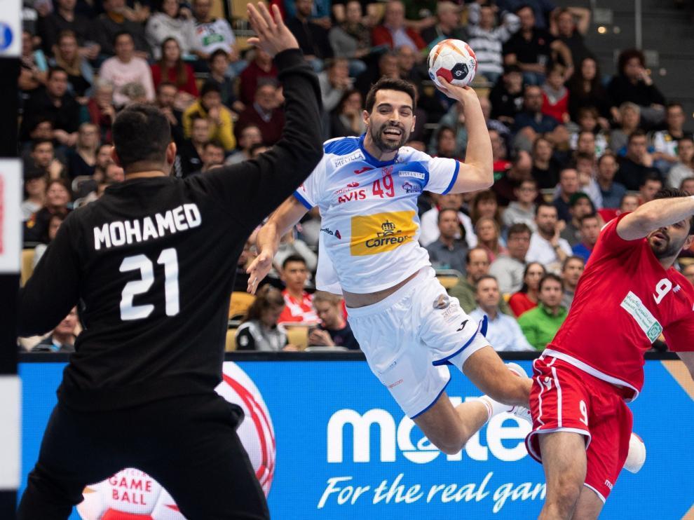 Mundial Masculino de Balonmano entre España y Baréin.