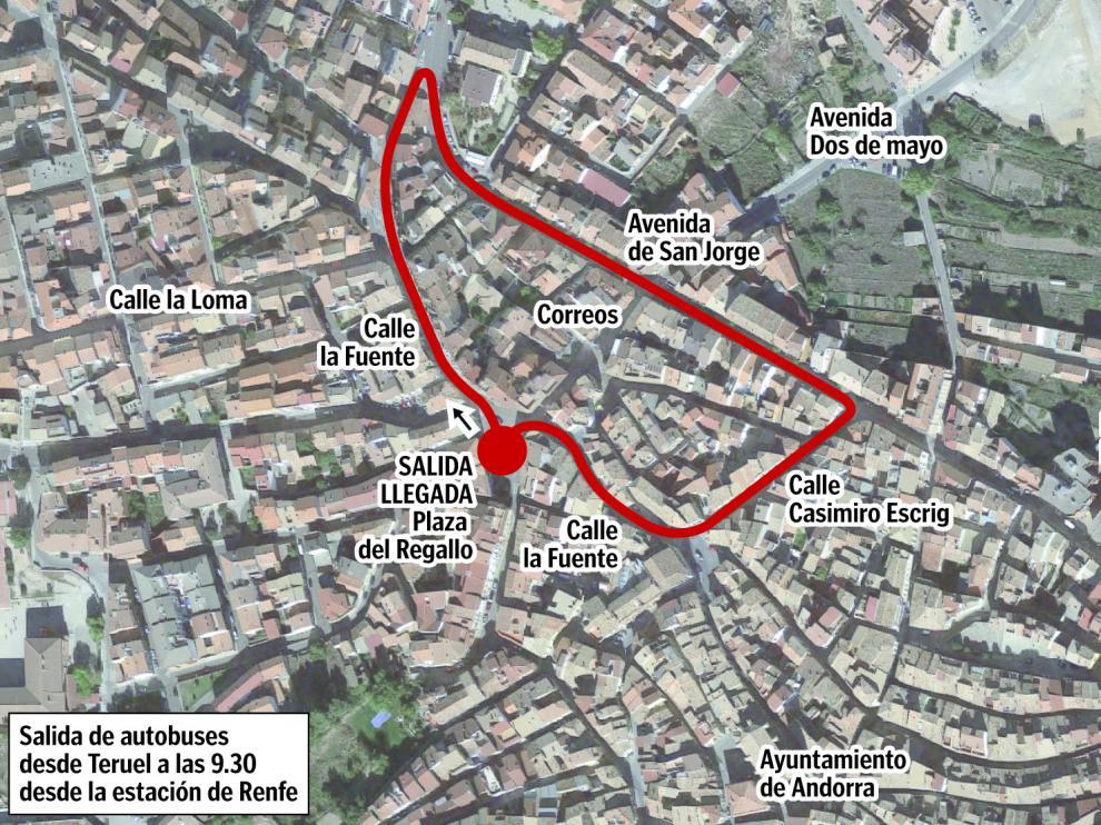 El recorrido de la protesta del sábado en Andorra.