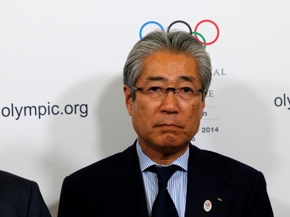 El presidente del Comité Olímpico Japonés, Tsunekazu Takeda