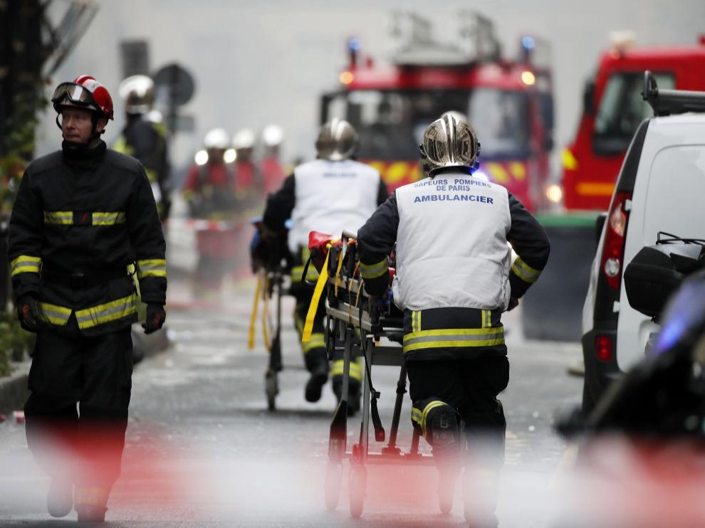 Explosión de gas en una panadería del centro de París.