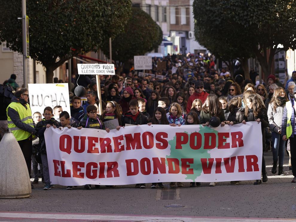 Imagen de archivo de la manifestación en Andorra contra el cierre de la térmica