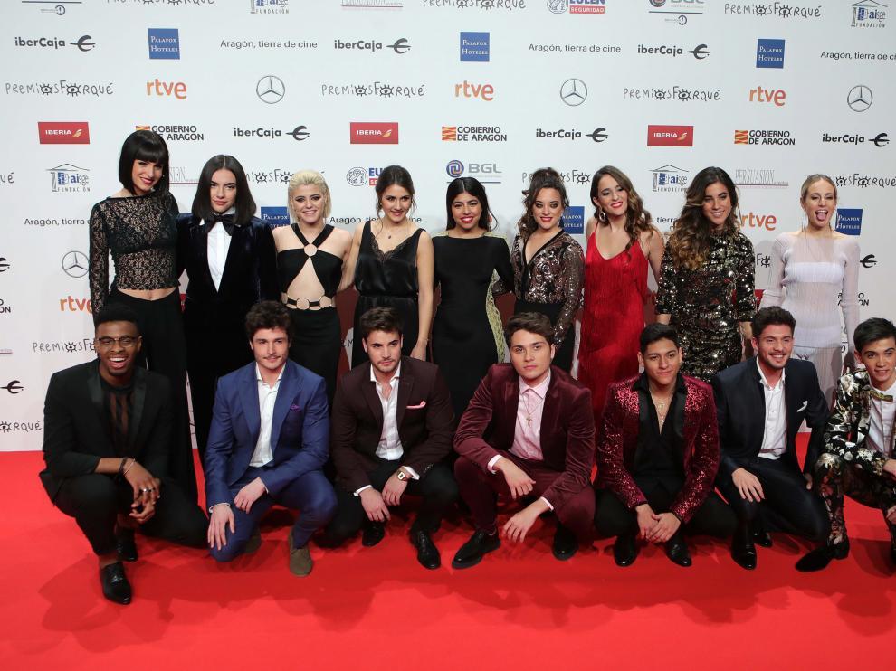 Los concursantes de OT 2018 en la alfombra roja de los Premios Forqué 2019.