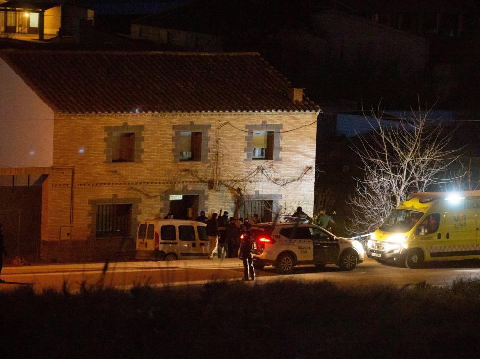 Una ambulancia trasladó al detenido tras su detención al hospital Miguel Servet de Zaragoza.