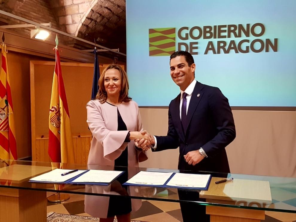 Aragón y Miami firman un acuerdo para estrechar lazos de amistad
