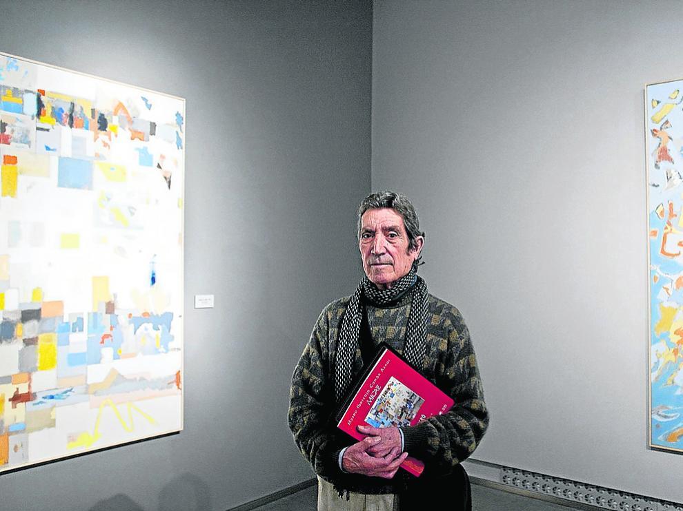 José Luis Balagueró, en su exposición de 2011, en el entonces Museo Camón Aznar.