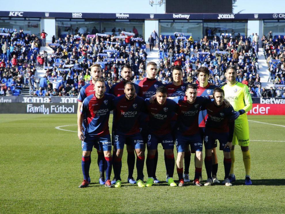 Once inicial de la SD Huesca en Leganés