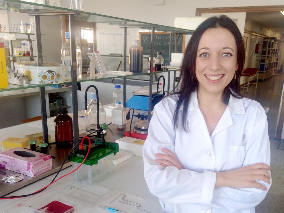 Gema Marín, primera doctora en Biotecnología graduada en la Universidad de Zaragoza.