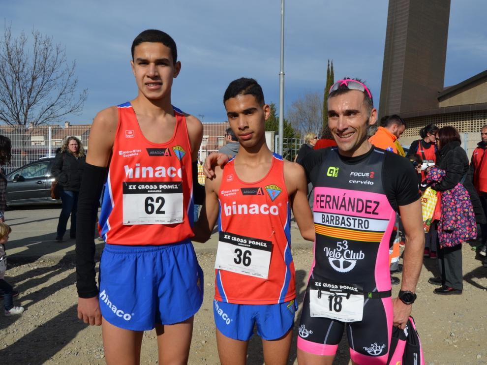 Dos atletas de Barbastro triunfan en casa en el Cross de la Peña Pómez