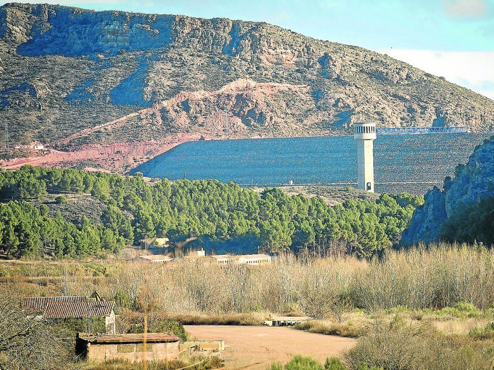Estado actual de la presa de Mularroya, presupuestada en 154 millones de euros.