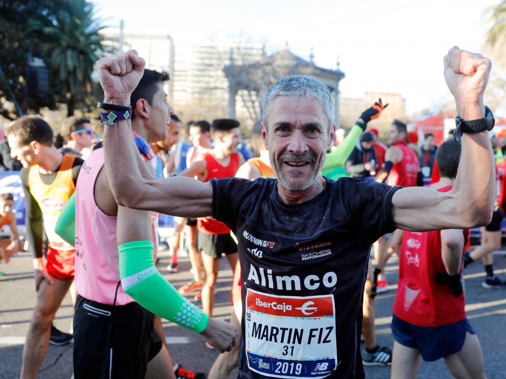 Martín Fiz logra el récord del mundo de 10K de mayores de 55 años.